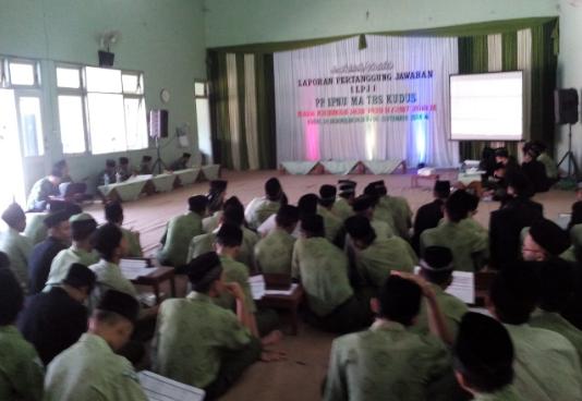 Perwakilan siswa mengikuti LPj PP/ OSIS TBS, Rabu (5/9/2018).